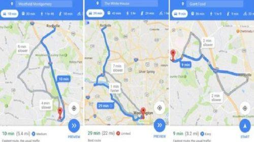Google Maps mostrará espacios para estacionar