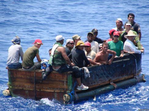 """Obama termina con política de """"pies secos, pies mojados"""" para cubanos"""