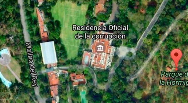 Convierten a Los Pinos en 'Residencia de Corrupción'