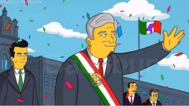 Falso que Los Simpsons predijeran el triunfo de AMLO en 2018