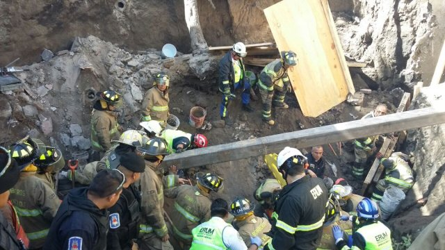 Derrumbe en la CDMX deja 8 lesionados y un muerto