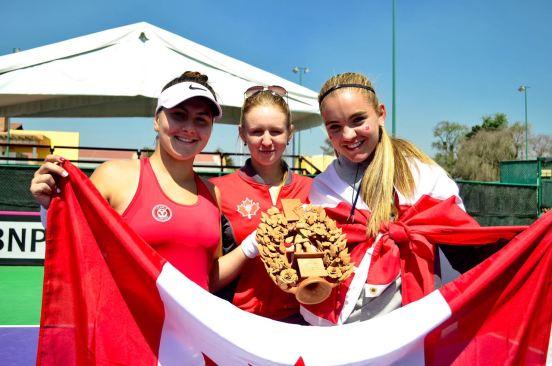 """Recibió canadá trofeo """"Árbol de la vida"""" por ser el mejor equipo de la Fed Cup"""