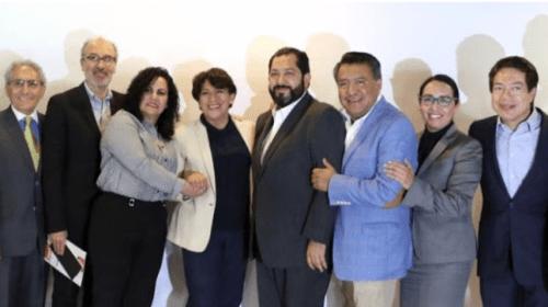 Presenta Delfina Gómez a equipo de campaña, se suma a ex colaborador de JVM