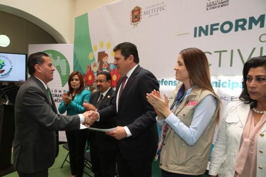 Presenta Metepec informe anual de actividades de la defensoría municipal de los derechos humanos