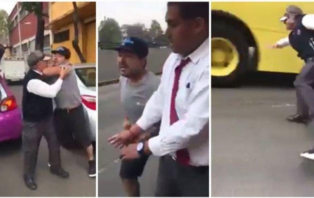 Lo arrolla autobús por intentar detener una pelea