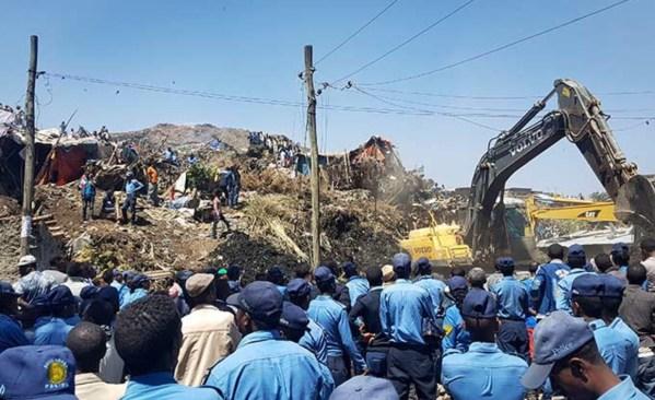 Al menos 35 muertos tras derrumbe en Etiopía