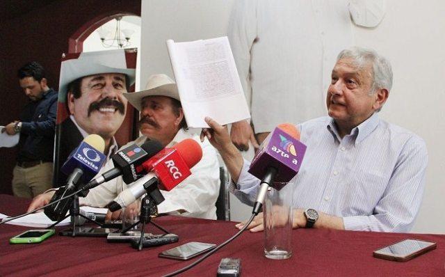 AMLO se retira si le comprueban que miente sobre Moreira y Duarte