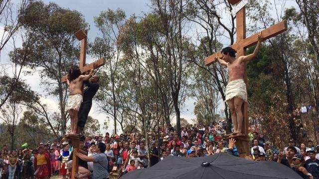 Se vive en Toluca la pasión de Cristo