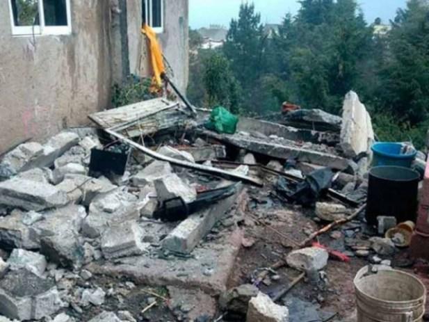 Muere niño por explosión en polvorín de Zinacantepec