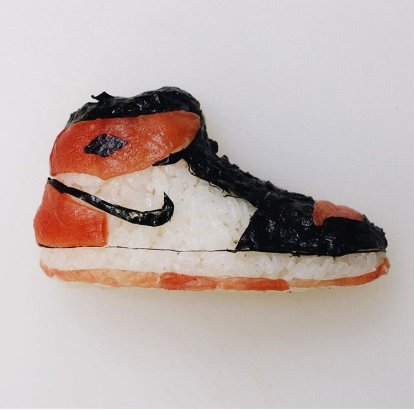 El sushi más original emula zapatillas de baloncesto