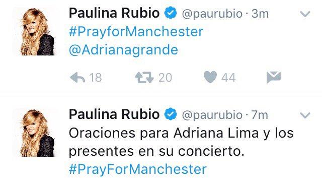 Paulina Rubio confunde a Ariana Grande y la critican