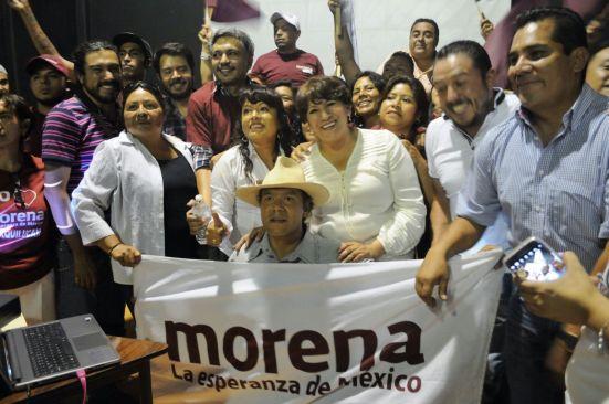 Suma Delfina Gómez militantes de otros partidos a su campaña por Edomex