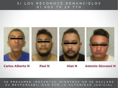 Detienen cuatro presuntos responsables del homicidio de tres elementos de la policía