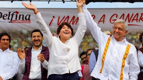 """""""Nada ni nadie va a impedir mi triunfo en el Edomex"""": Delfina Gómez"""