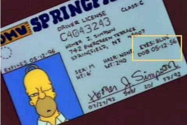 Homero Simpson cumple 61 años