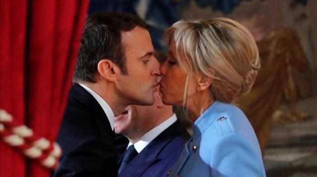 Emmanuel Macron y Brigitte Trogneux una singular historia de amor