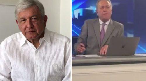 Entrevista de AMLO con José Cárdenas se descontrola (video)