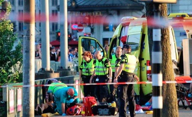Atropello múltiple en Ámsterdam: ocho heridos, dos de ellos graves