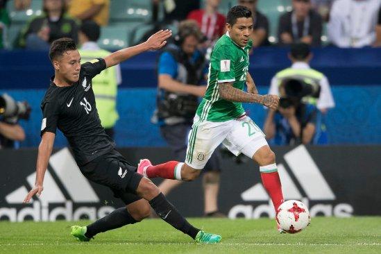 Mexico gana 2-1 a Nueva Zelanda en la Copa Confederaciones Rusia 2017