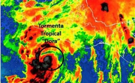 Alerta por el paso de la tormenta tropical Dora