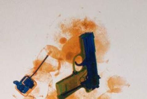 Mujer intentó traficar arma en osito de peluche