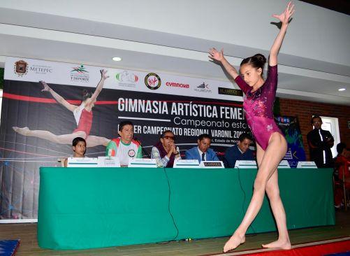 Presentan en Metepec gran competencia de gimnasia artistica