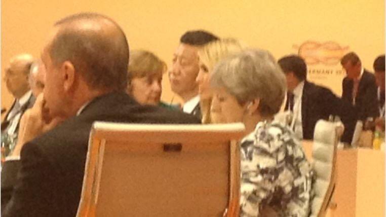 Ivanka Trump sustituye a su padre en mesas del G20
