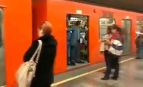 Metro arranca sin cerrar puertas
