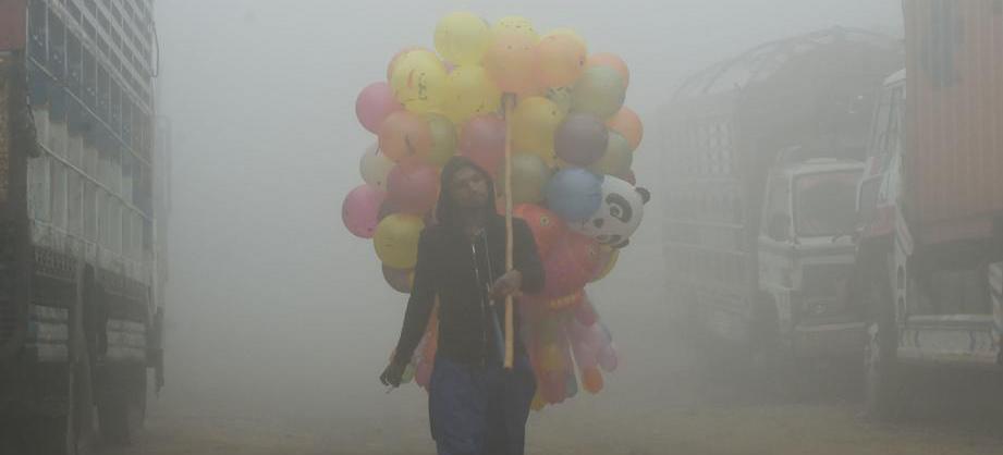 Estas fotos del smog no son de una película...
