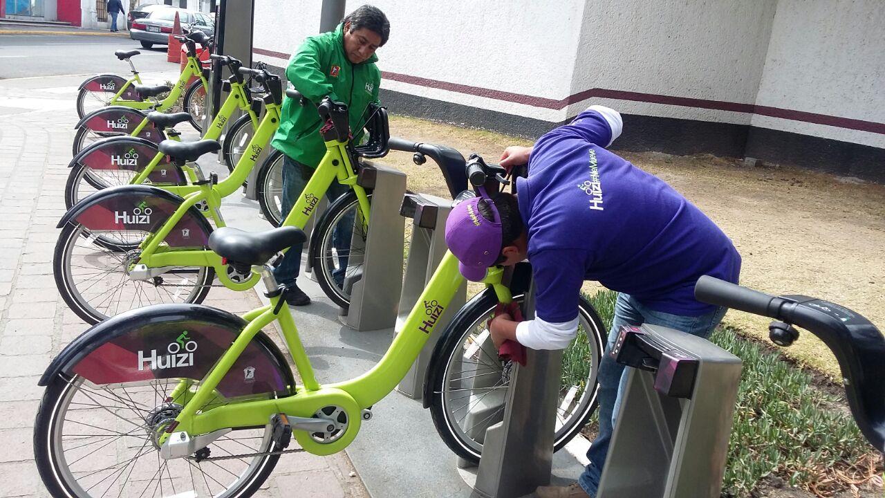 Operan al 100 por ciento las ciclo estaciones de Huizi