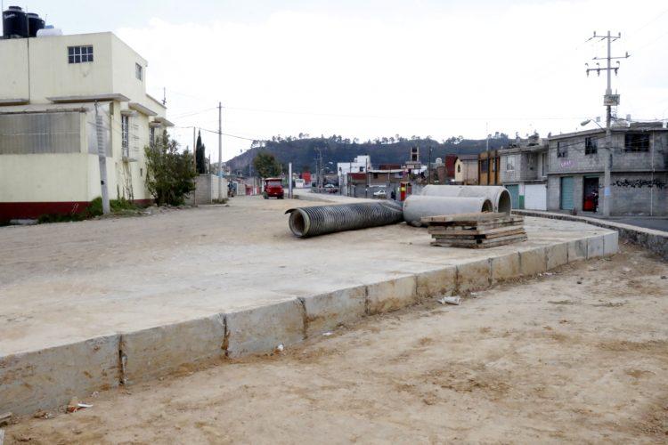 Continúan obras de reparación por socavón en la colonia San Bernardino