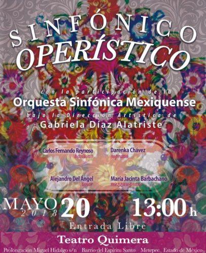 La Orquesta Sinfónica Mexiquense  llega al Teatro Quimera
