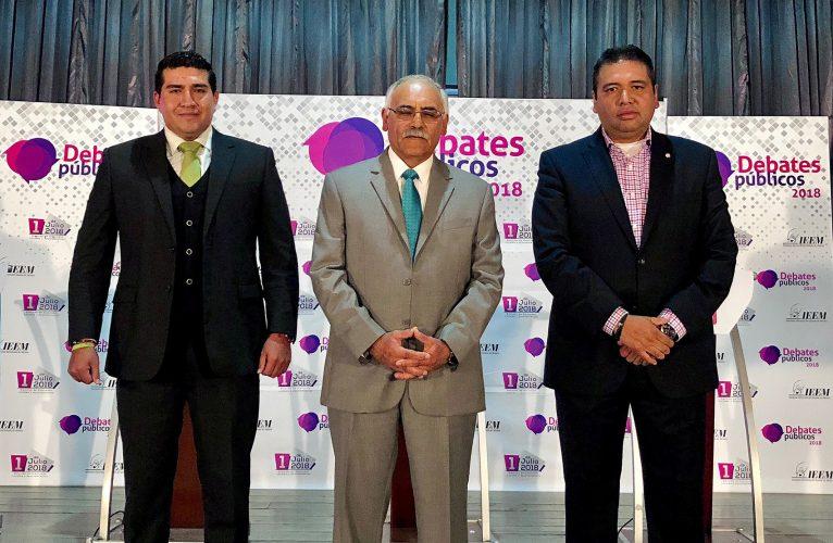 Debaten candidatos de Capulhuac sobre mejorar servicios públicos en la región