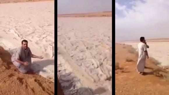 """Aparece misterioso río de """"arena"""" en el desierto"""