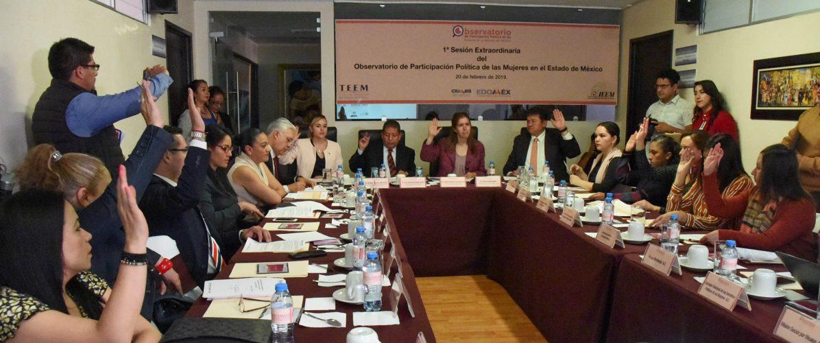 1ª Sesión Extraordinaria del Observatorio de Participación Política de las Mujeres en el Edoméx