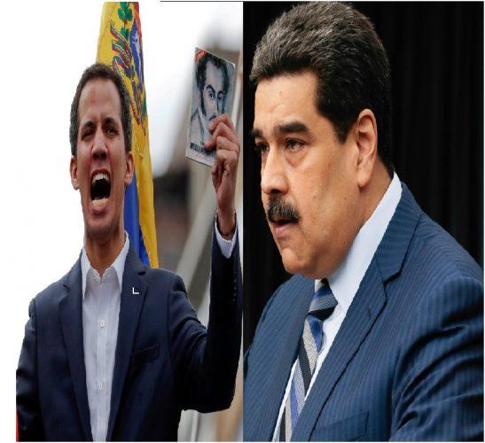 Juan Guaidó y Nicolás Maduro se manifiestan en Venezuela