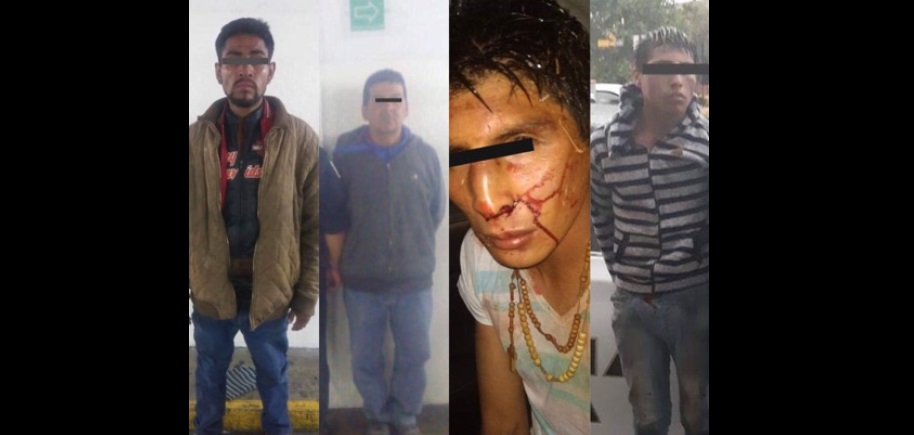 Detienen a 4 sujetos por robos en Toluca