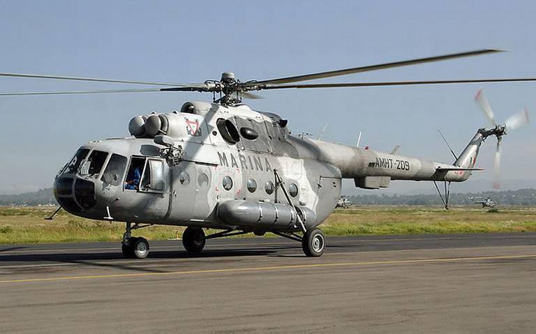 Helicóptero de la Marina se desploma  en San Luis Potosí