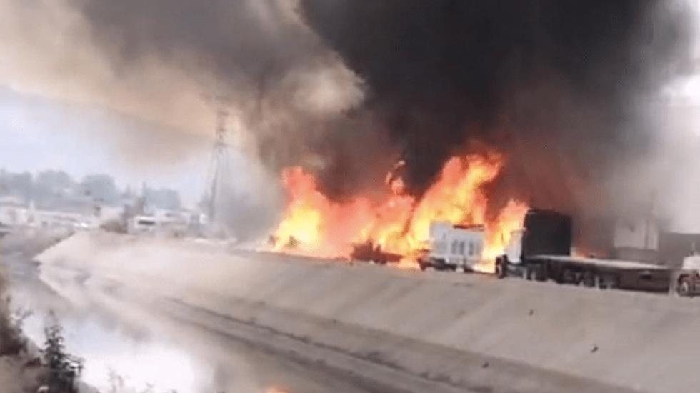 Reportan fuerte incendio en Cuautitlán Izcalli