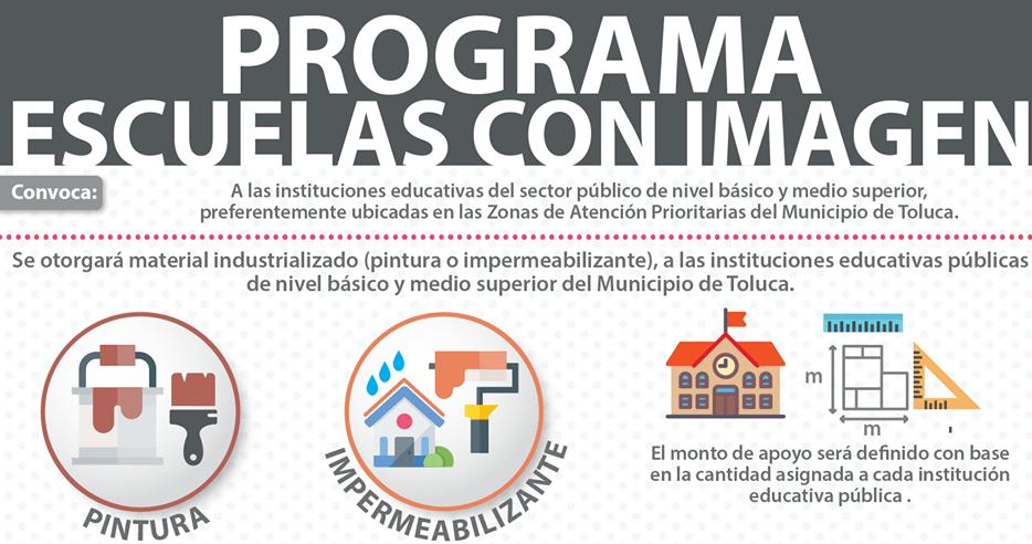 Mejorará Toluca instituciones educativas a través del programa Escuelas con Imagen