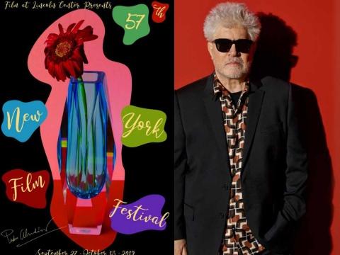 Almodóvar diseña cartel del NYFF inspirado en Dolor y Gloria
