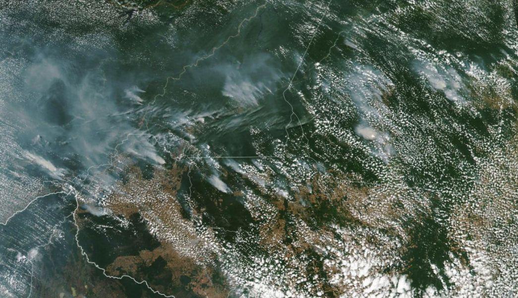 Satélite de la NASA capta la magnitud del incendio en el Amazonas