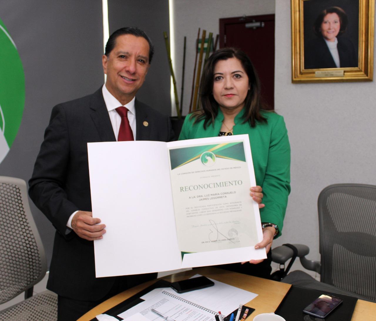 CODHEM reconoce la aportación de los consejeros ciudadanos Luz María Jaimes Y Justino Reséndiz