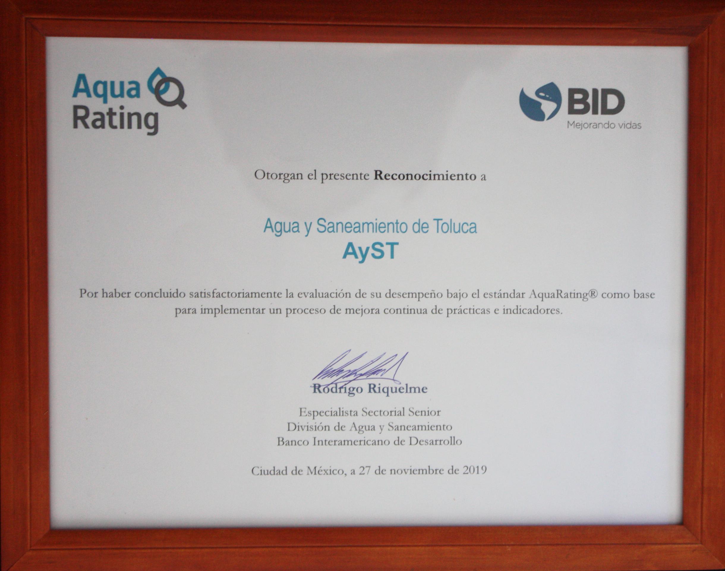 Reconoce Banco Interamericano de Desarrollo al OAyST