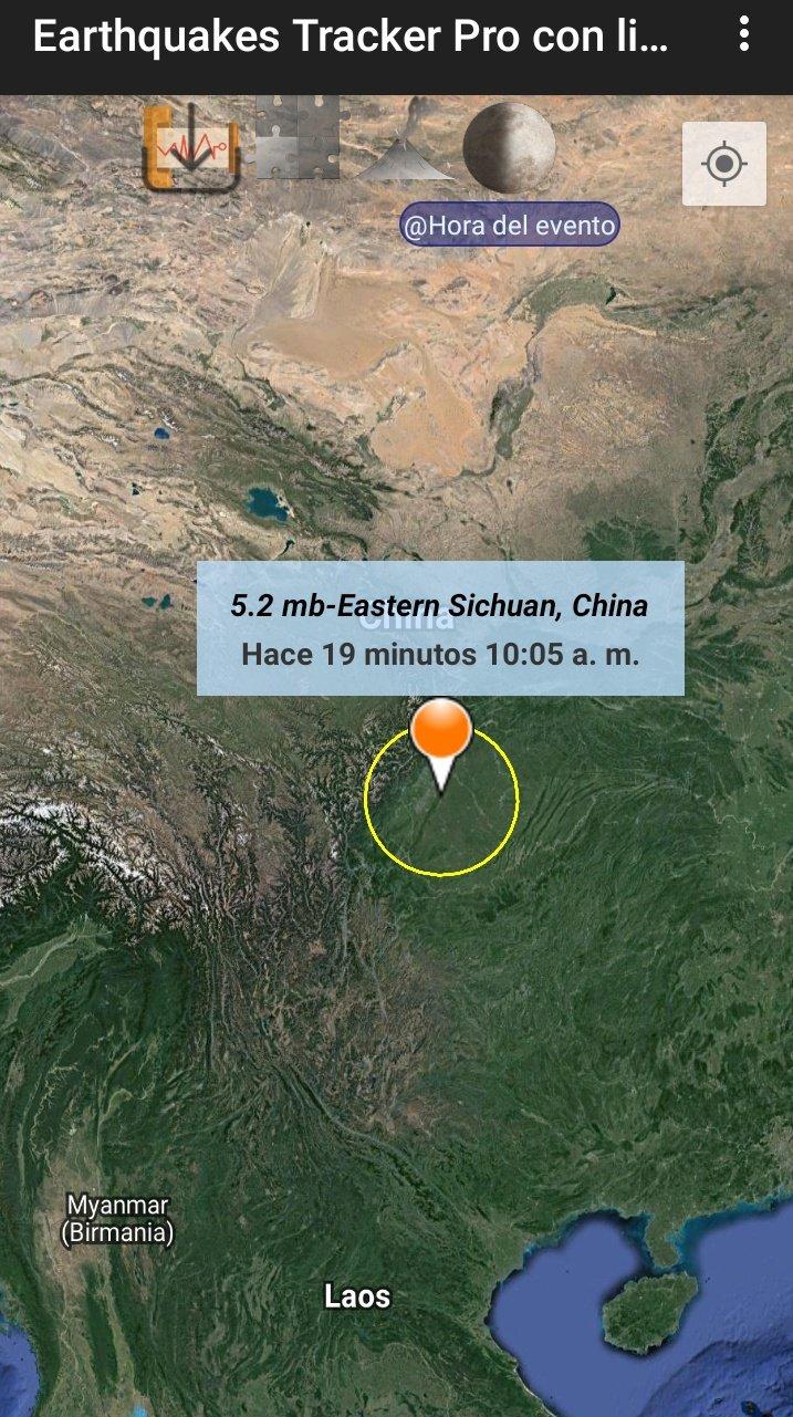 ¡Tiembla en China! Reportan sismo de magnitud 5.1