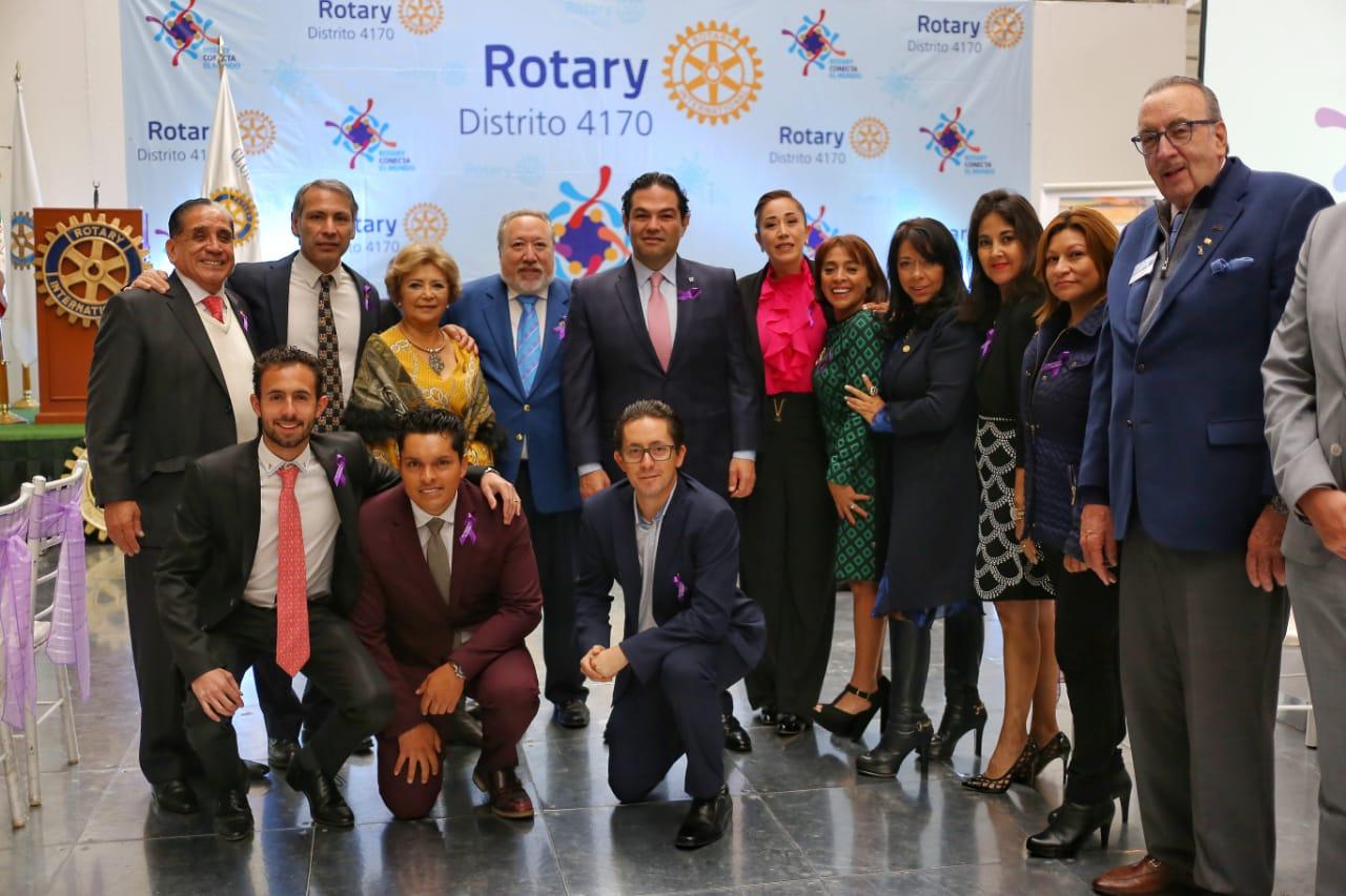 Signan convenio de colaboración Huixquilucan y Club Rotarios