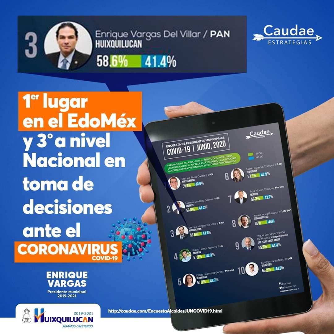 Huixquilucan el número uno del EDOMEX y tercero en el país en acciones frente al covid-19