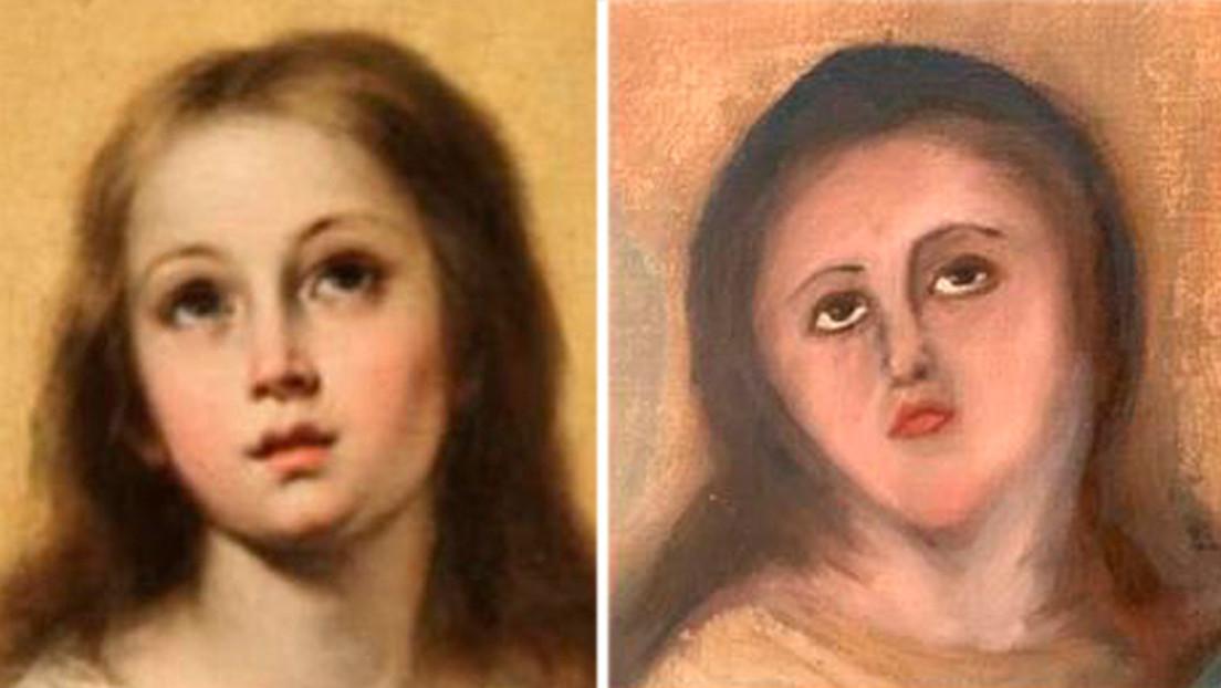 Un coleccionista pagó 1,200 euros por restaurar una pintura y se la devuelven desfigurada.