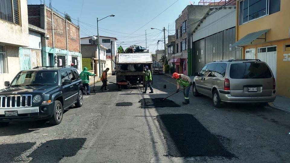 Programa Emergente de Bacheo ha reparado 2,700 metros cuadrados en 15 delegaciones en Toluca