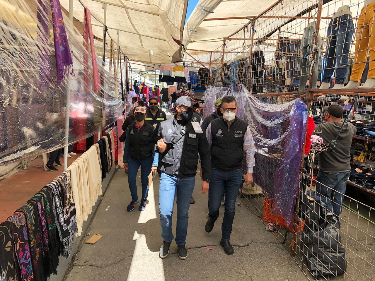 Mercados y Tianguis de Toluca operan con 30 por ciento de puestos no esenciales